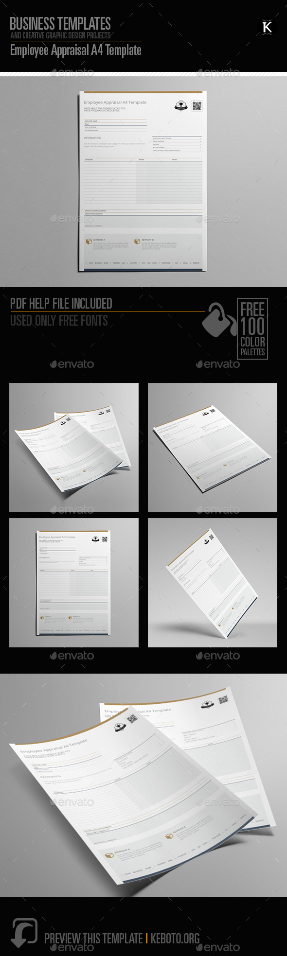 Employee Appraisal A4 Template - Miscellaneous Print Templates