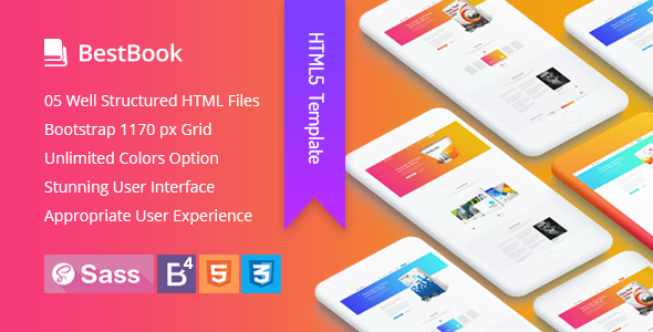Bestbook - Book Author & Marketers Landing Page HTML5 Template - Marketing Corporate