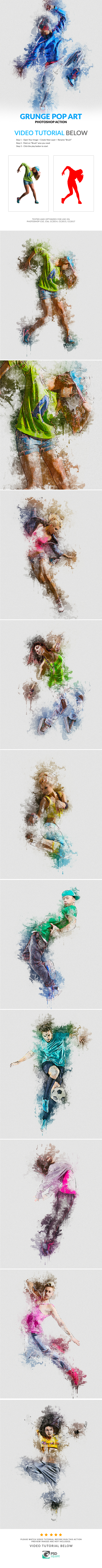 Grunge Pop Art Photoshop Action - Photo Effects Actions