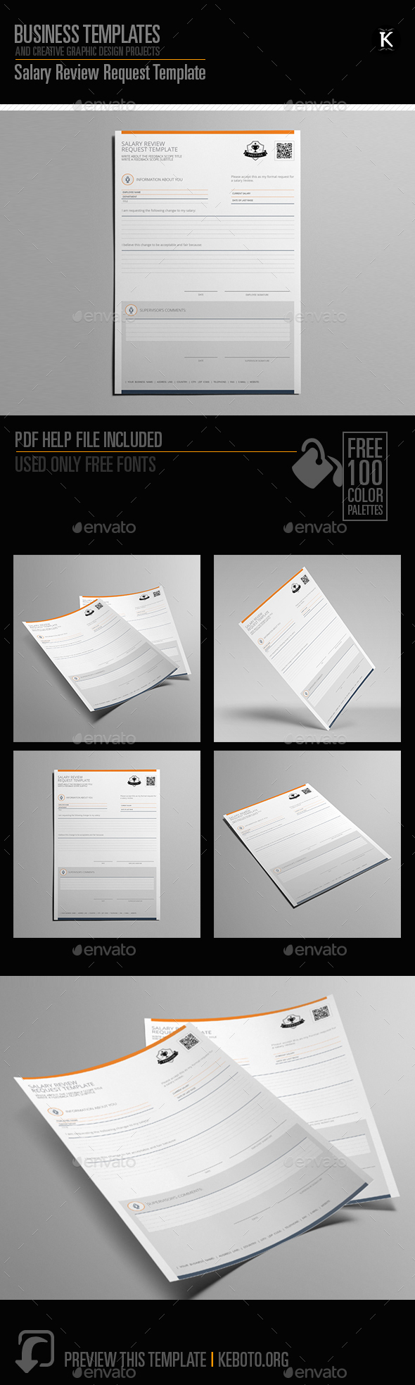Salary Review Request Template - Miscellaneous Print Templates