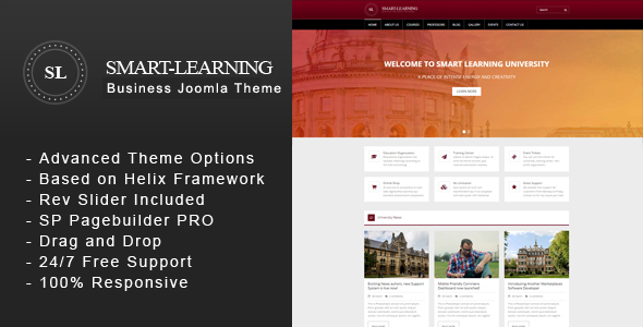 Smart Learning - Premium Education Corporate Joomla Theme - Corporate Joomla
