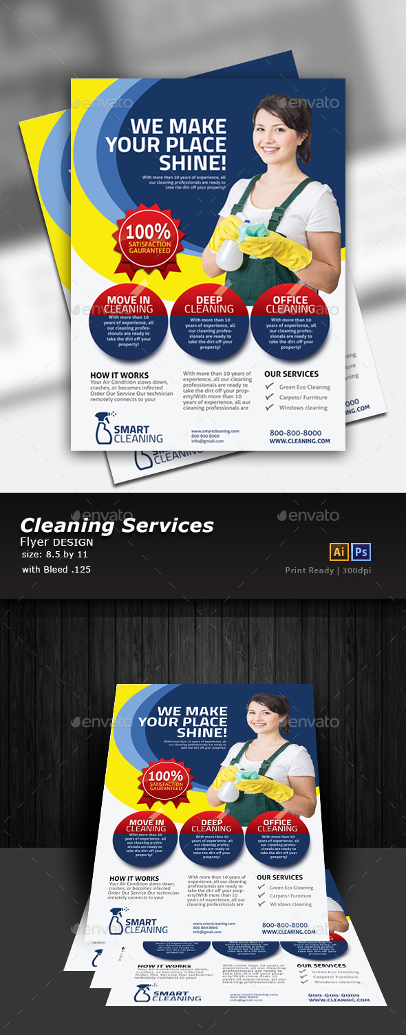 GraphicRiver Cleaning Flyer 20621238