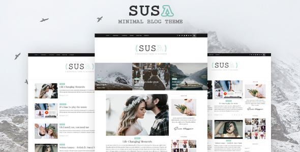Susa – Responsive WordPress Blog Theme (Blog / Magazine)
