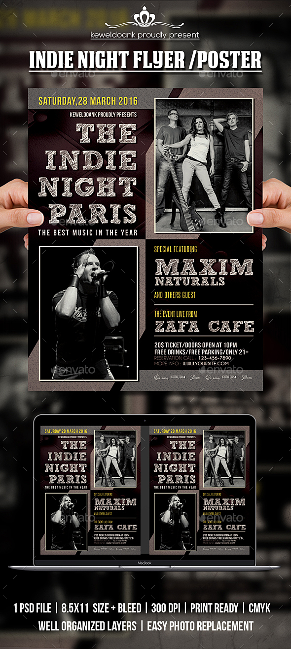 GraphicRiver Indie Night Flyer Poster 20621664