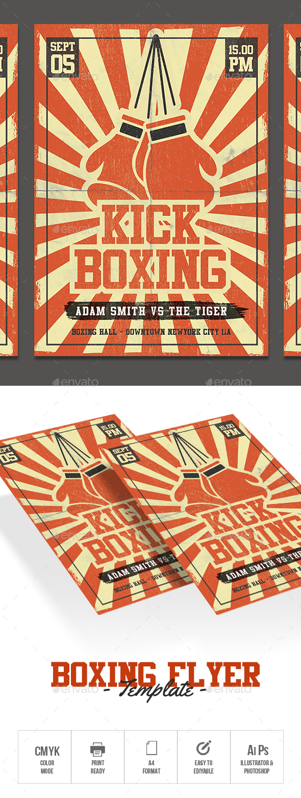 GraphicRiver Boxing Flyer 20621701