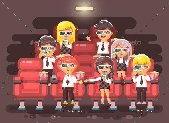 Vector Illustration Cartoon Characters Children - People Characters