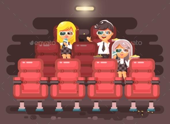 GraphicRiver Vector Illustration Cartoon Characters Children 20621879