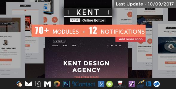 Kent - Responsive Email Set + StampReady Online Builder