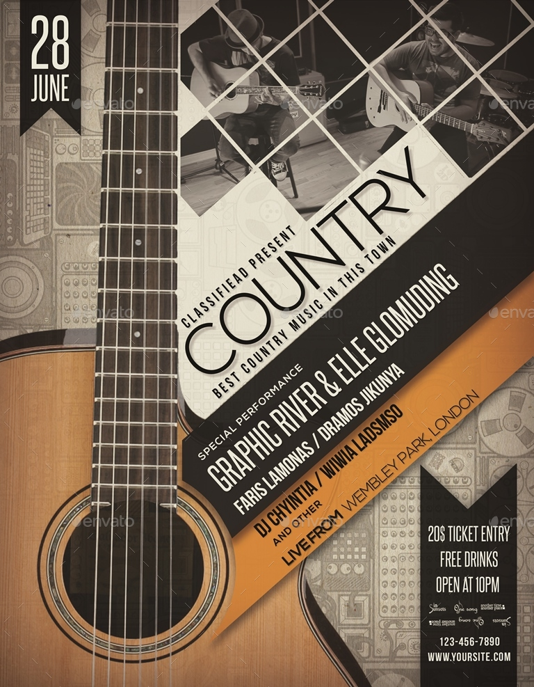 Country Event Flyer / Poster Vol.7