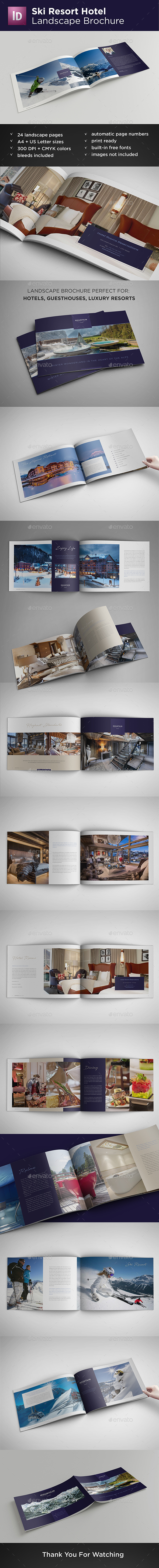 Ski Resort Hotel Landscape Brochure - Catalogs Brochures