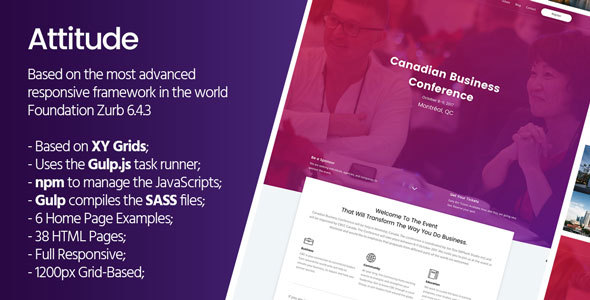Attitude - HTML Template Based On Foundation Zurb - Miscellaneous Site Templates