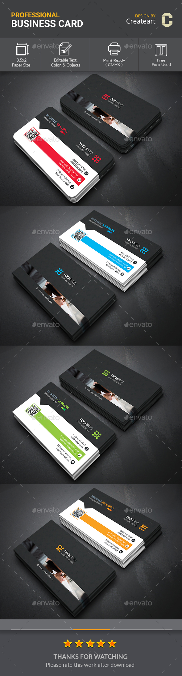 Creative Business Card - Business Cards Print Templates