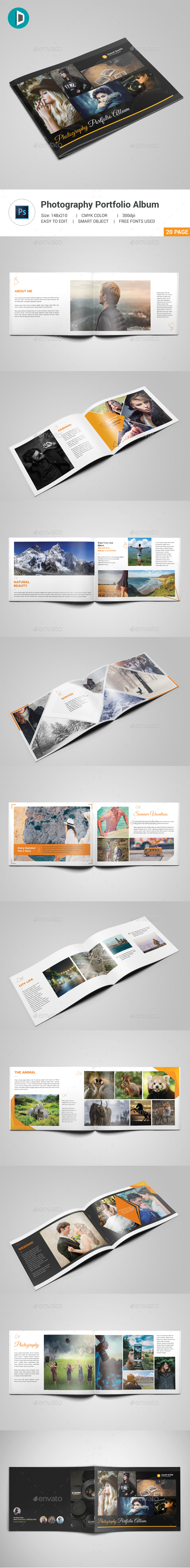 Photography Portfolio Album - Photo Albums Print Templates