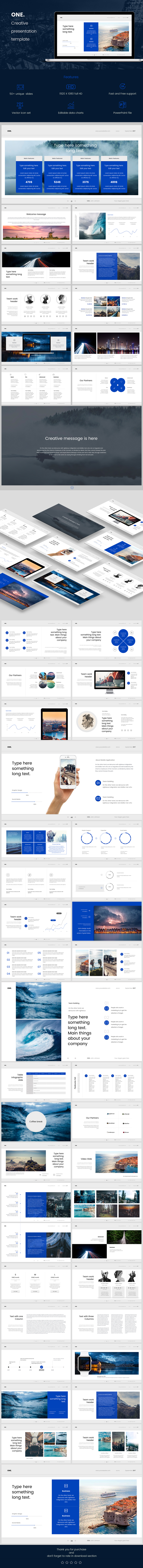 One PowerPoint - PowerPoint Templates Presentation Templates