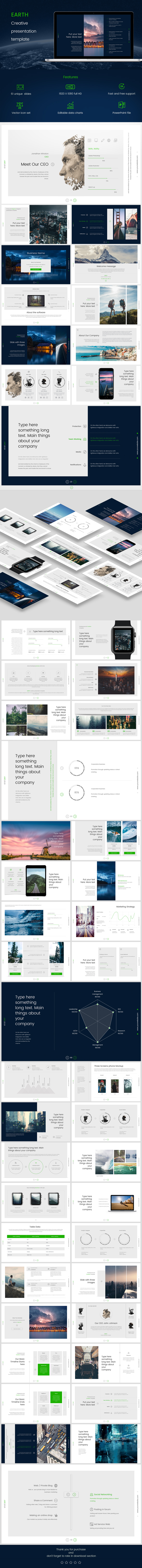 Earth PowerPoint - PowerPoint Templates Presentation Templates