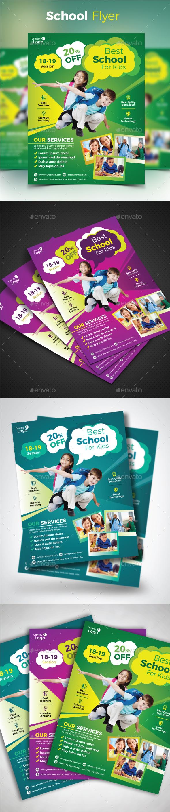 GraphicRiver School Flyer 20622620