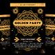 Golden Party Flyer