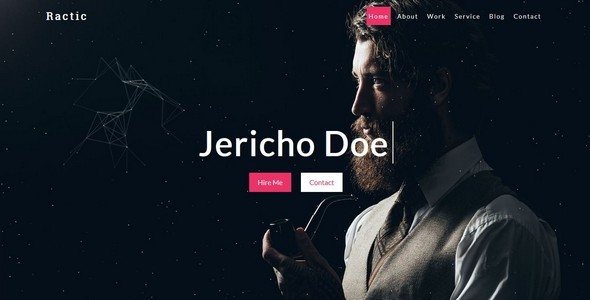Ractic-Personal Template - Personal Site Templates