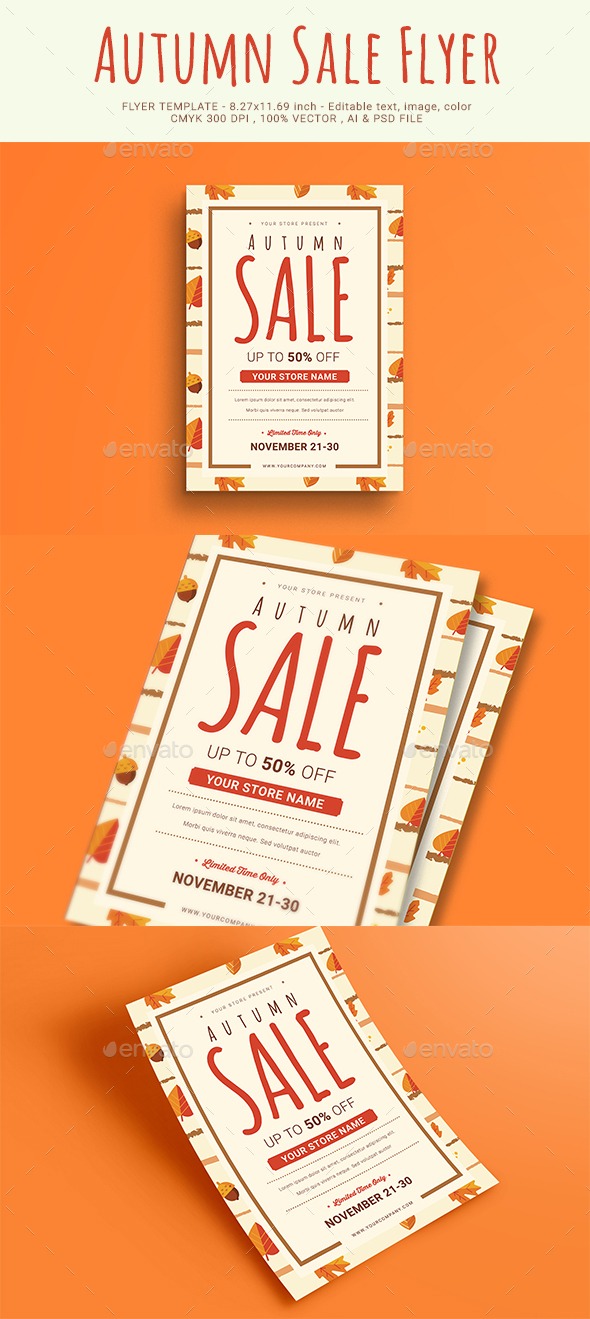 GraphicRiver Autumn Sale Flyer 20622755