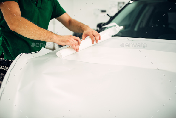 Professional automobile paint protection film - Stock Photo - Images