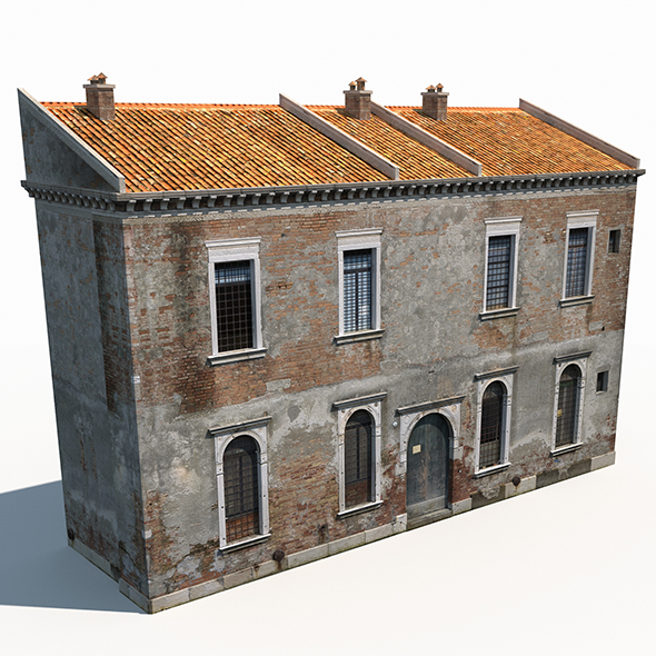 Apartment House 172 Low Poly - 3DOcean Item for Sale