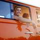 Hippie friends in a van on a road trip - PhotoDune Item for Sale