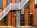 modern wooden building exterior