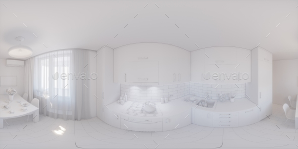 360 Panorama of Kitchen Design - Architecture 3D Renders