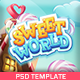 Sweet World: The Ultimate One-Page Premium Casual Gaming PSD Template - ThemeForest Item for Sale