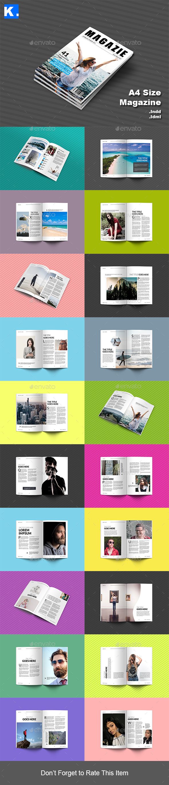 Indesign Magazine Template 2 - Magazines Print Templates