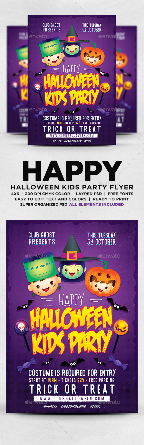 GraphicRiver Halloween Kids Party Flyer 20623966