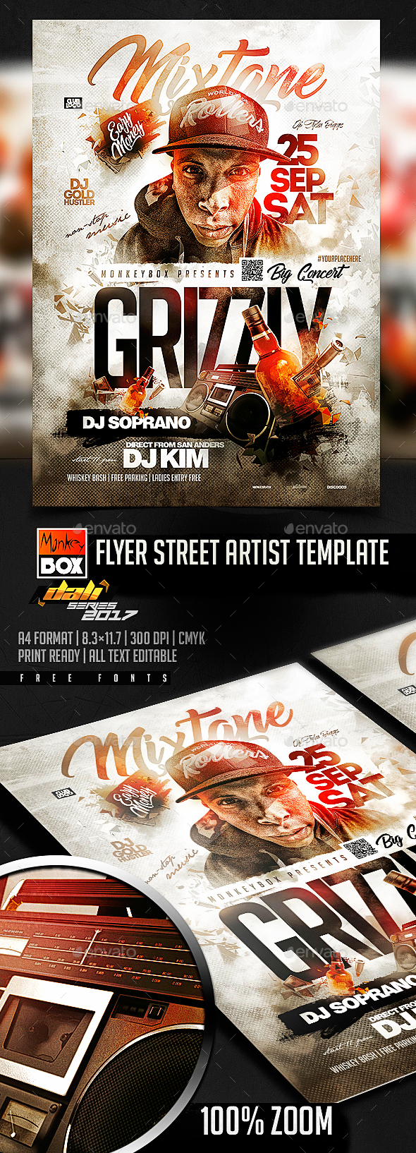 Flyer Street Artist Template - Flyers Print Templates