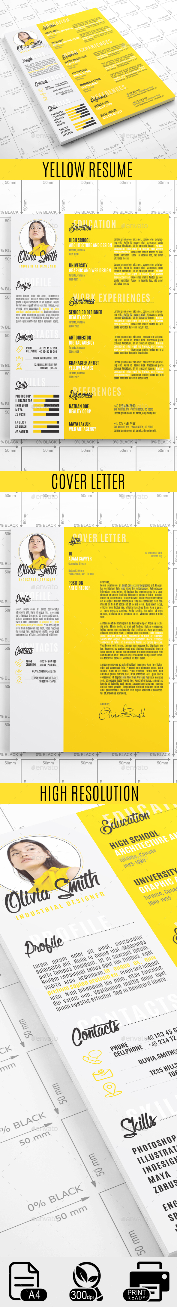GraphicRiver Yellow Resume 20624204
