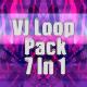 Pink Glitch Vj Loop Pack 7 In 1 - VideoHive Item for Sale