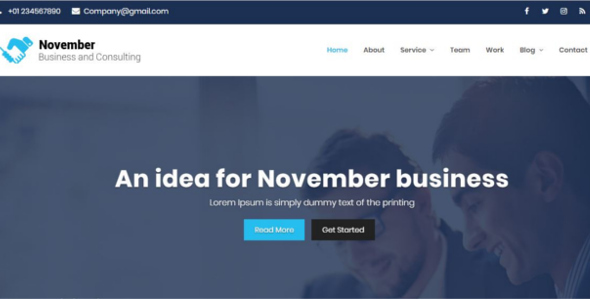 Download November -Business Consulting & corporate HTML5 Responsive Template