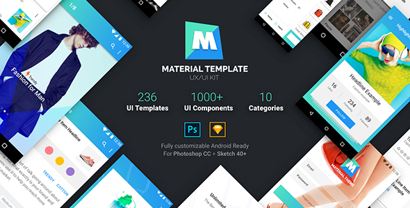 ThemeForest Material Template UX UI Kit 20496610