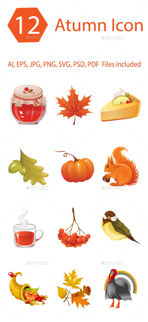GraphicRiver Autumn Icons 20624628