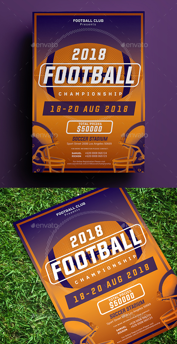 Football Championship Flyer - Sports Events