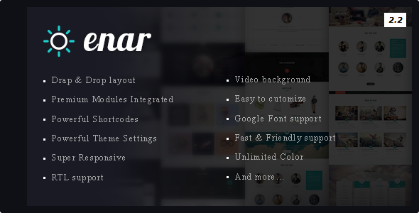 Enar - Multipurpose Drupal 8 Theme