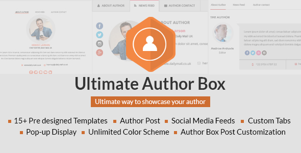 Top 8 Best WordPress Author Box Plugins 2019 7