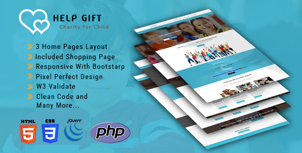 Image of HelpGift - Non-profit, Charity, Fundraising HTML5 Template