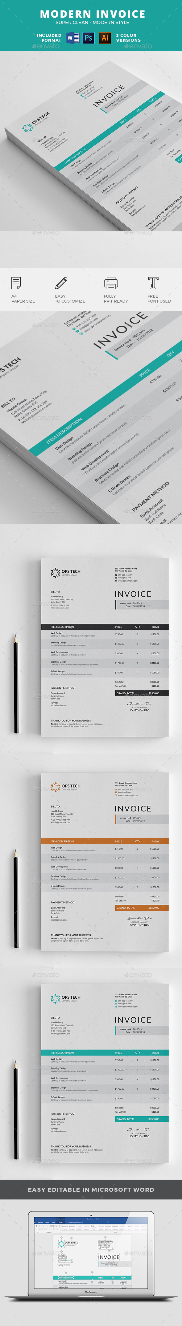 Adp Open Invoice Word Invoice Template Graphics Designs  Templates From Graphicriver Receipt Template Free Word Excel with International Invoice Excel  What Is The Invoice Number