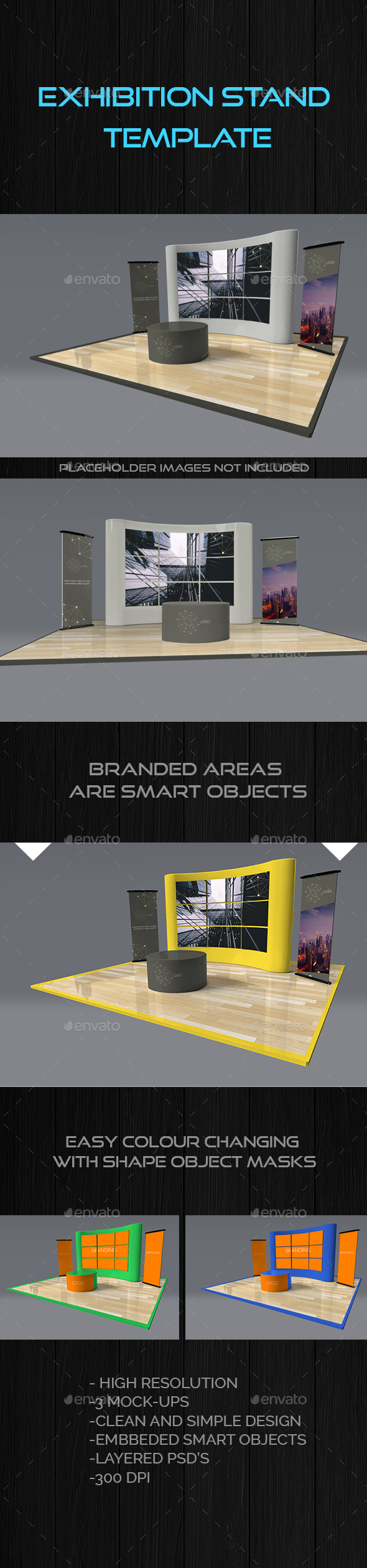 Exhibition Stand Mock Up Templates - Miscellaneous Print