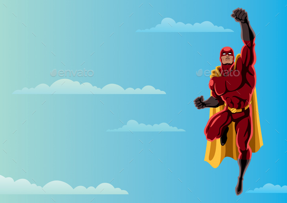 Superhero Flying in Sky - Miscellaneous Characters