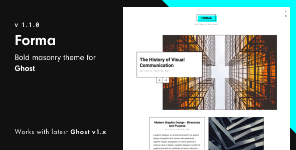 Forma - Bold Masonry Theme For Ghost - Ghost Themes Blogging