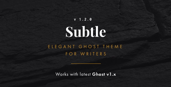 Subtle Clean and Elegant Ghost Theme