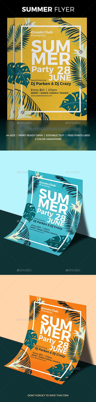 Summer Flyer - Print Templates
