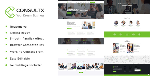 Consultx - Business Consulting and Professional Services HTML Template - Business Corporate