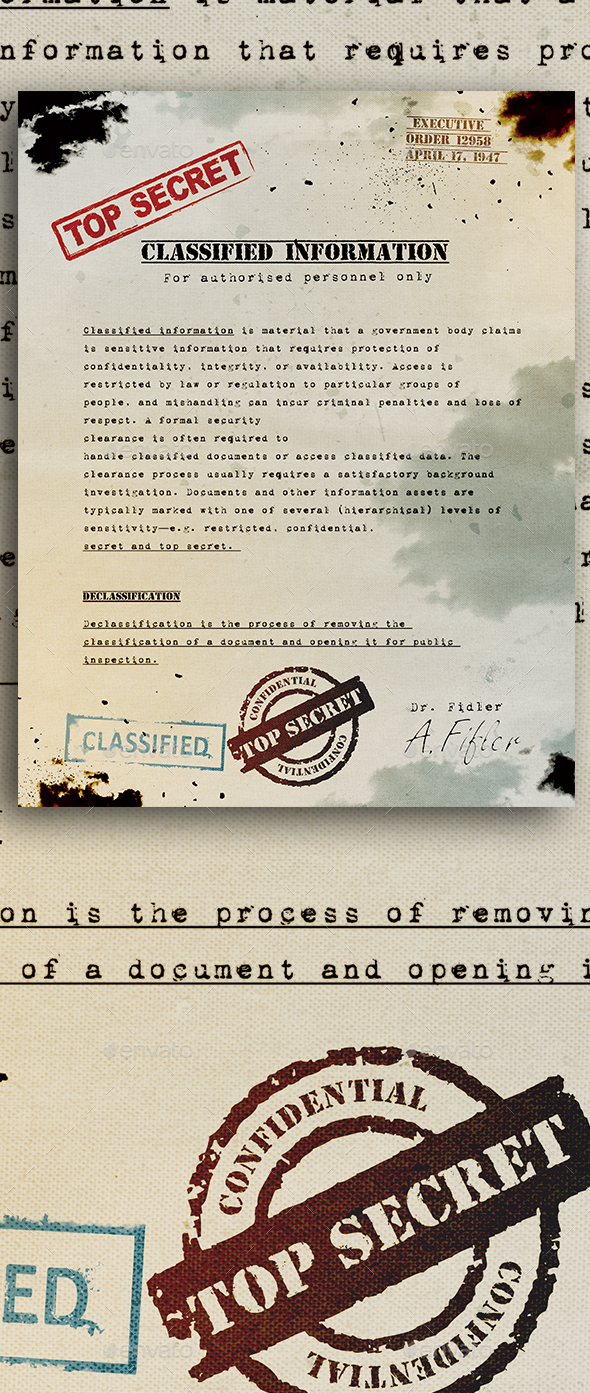GraphicRiver Top Secret Document Template 20624979