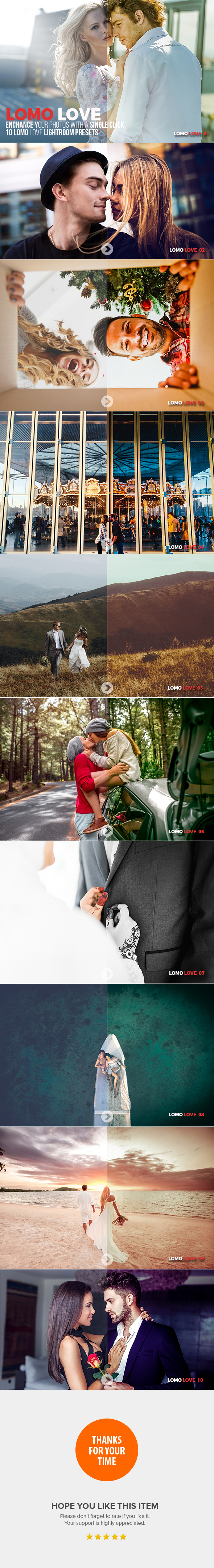 GraphicRiver 10 Lomo Love Lightroom Presets 20625039